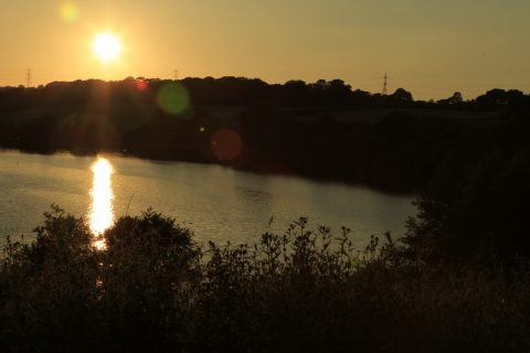 Pickmere by sunset